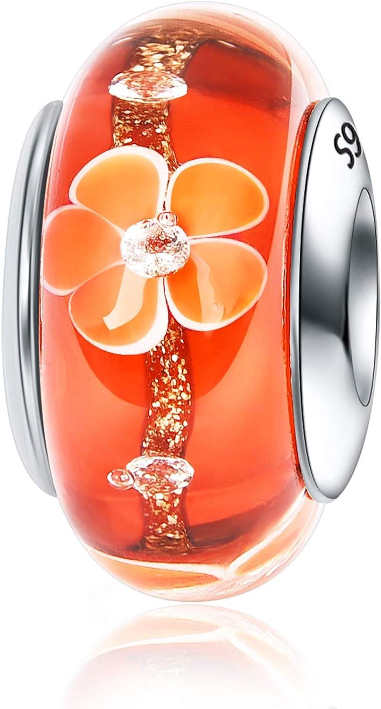 JIAYIQI Murano Glass Charm...