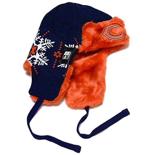 f7875aa9a Amazon.com : NFL Chicago Bears Snowflake Trapper Winter Hat : Sports ...