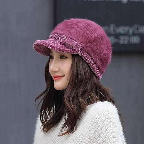 935de851859c8 Image Unavailable. Image not available for. Color  Mink Monk Women Winter  Warm Cap Beret ...