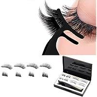 Magnetic False Eyelashes, 3d natural effect Reusable without Glue Ultra Thin Handmade False Eyelashes, with Tweezers (8…