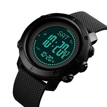 Reloj Digital Para Hombre,Black Mens Relojes Deportivos Altímetro ...