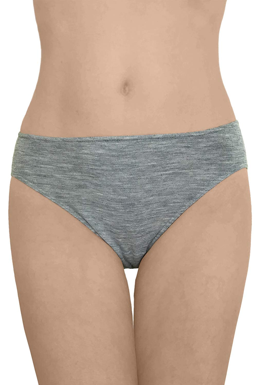 EcoAble Apparel Women's Thermal Panties Briefs, Moisture Wicking Merino Wool Silk