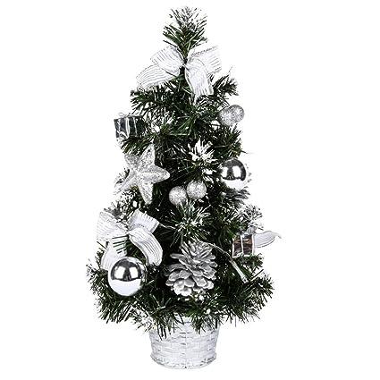 handfly mini christmas tree pre lit christmas tree ornament for festival xmas party home decoration - Mini Pre Lit Christmas Tree