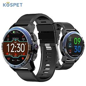 NOVITÀ Kospet Optimus Pro 4G Smartwatch 800mAh Batteria 8MP Fotocamera da 2 GB + 16 GB Dual System Ibrido GPS/GLONASS IP67 Impermeabile Orologio sportivo compatibile con Android e ios