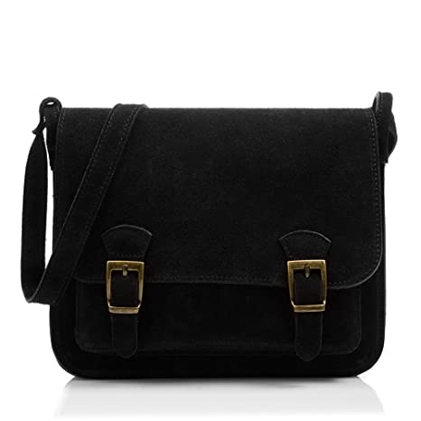 2b64fd8e00c4 FIRENZE ARTEGIANI Genuine leather woman Satchel bag. Suede genuine leather  crossbody bag. Woman s Shoulder