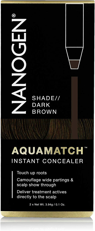 NANOGEN AQUAMATCH - Corrector capilar resistente al agua: Castaño Oscuro: Amazon.es: Belleza