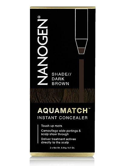 NANOGEN AQUAMATCH - Corrector capilar resistente al agua: Castaño Oscuro