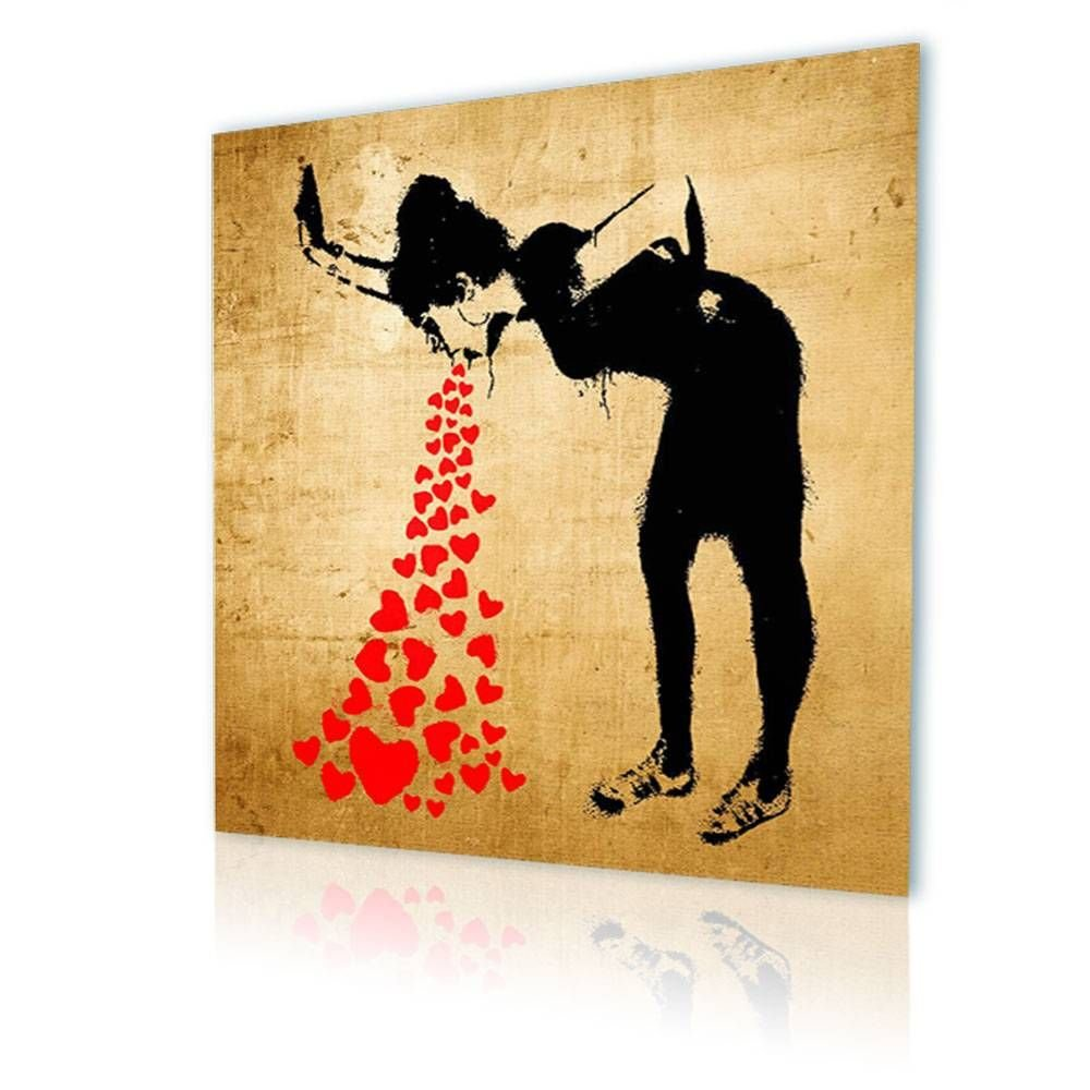 Amazon.com: Alonline Art - Lovesick Banksy PRINT On CANVAS (100 ...