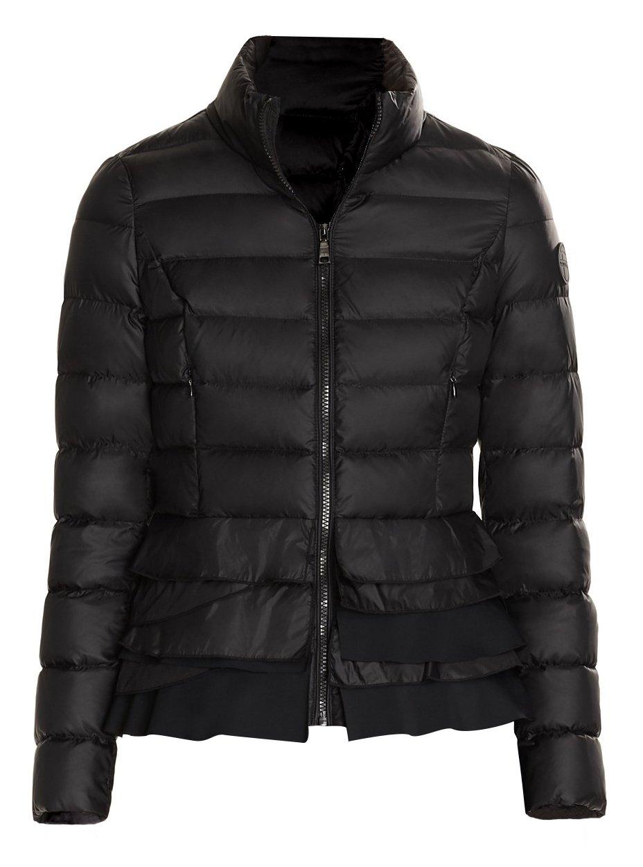 T Tahari Zoey Black Ruffled Coat (XS)