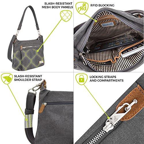 Heritage Pewter Size Bag Hobo Anti Pewter One theft Travelon 0XxIOx