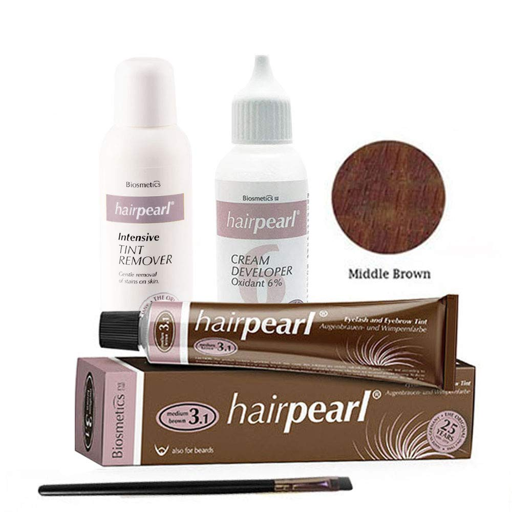 Intensive Hair Pearl Tint, Cream Developer, Tint Remover, and Brush Kit (Middle Brown) by Intensive (Image #1)