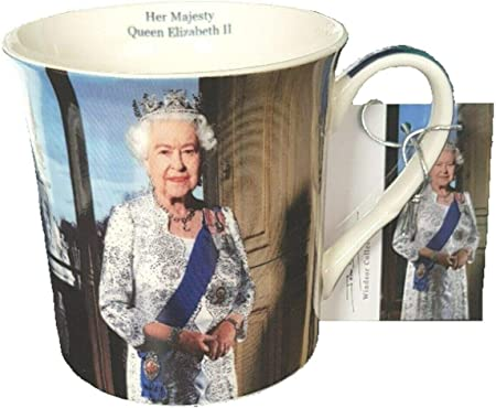 Queen Elizabeth II Mug Souvenir Gift John Swannell Official Portrait China Cup