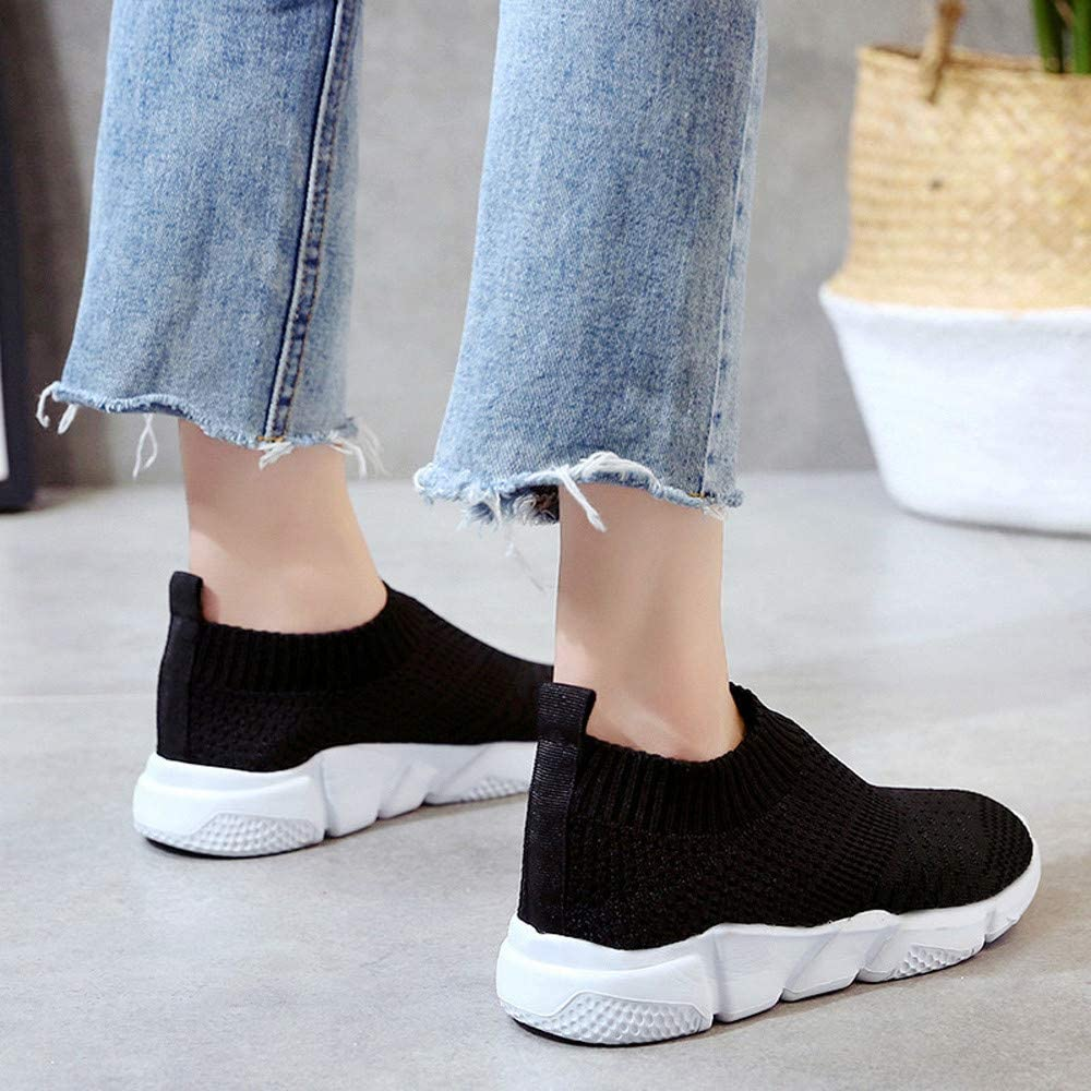 Miuye yuren Running Shoe Fashion Sneaker Casual Slip On Comfortable Soles Outdoor Mesh Shoes
