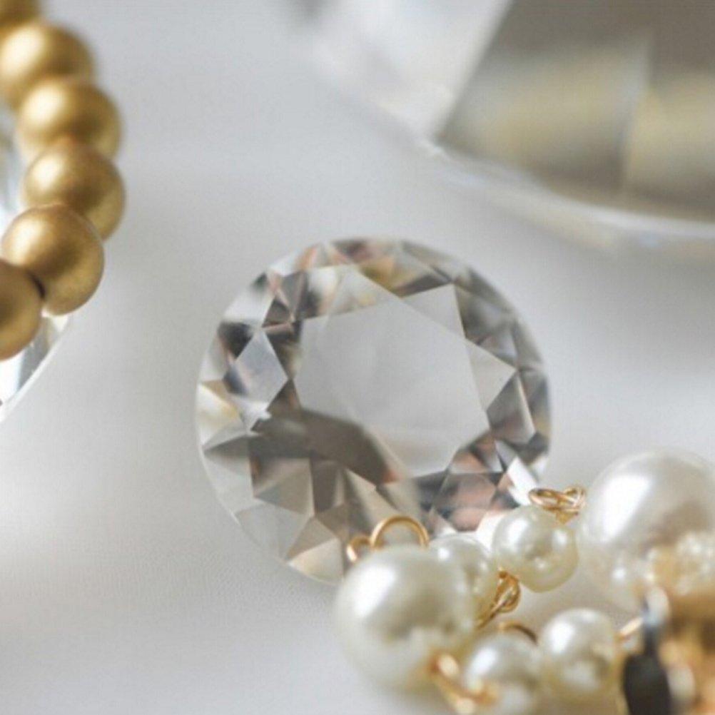 Tinksky 6cm Acryl Diamanten Dekor gro/ße Kristall Diamant f/ür Party Hochzeit Fotografie Tischdeko DIY Handwerk