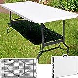 Campingtisch Gartentisch Klapptisch Falttisch Faltbarer Tisch Campingmöbel Markttisch Flohmarkttisch Koffertisch 183x72x76cm