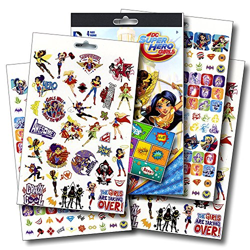 DC Comics Super Hero Girls Stickers Bundle with Specialty PopArt Sticker by DC (Girls Of Dc Comics)