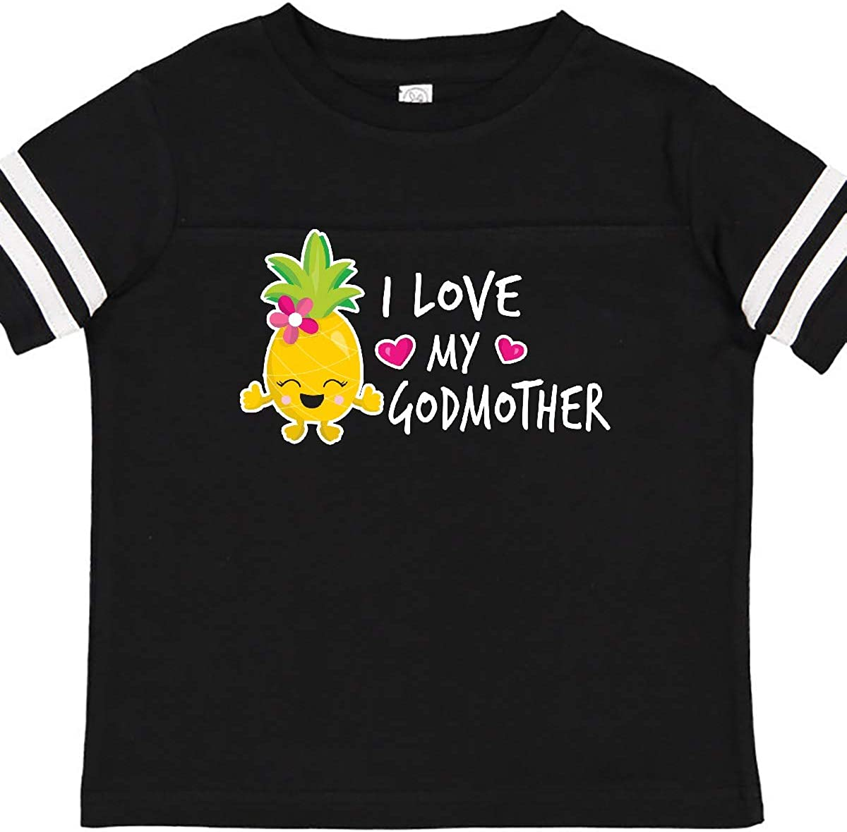 inktastic I Love My Godmother with Pineapple Toddler T-Shirt