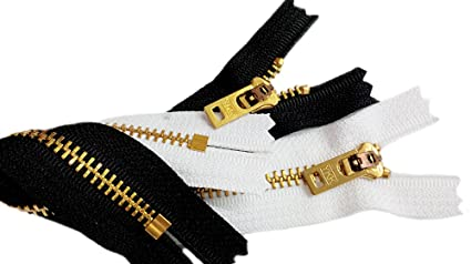 ZipperStop Wholesale Authorized Distributor YKK® Zipper Two 7 Inch Brass  Jeans Zipper YKK Number 5 46233c45e