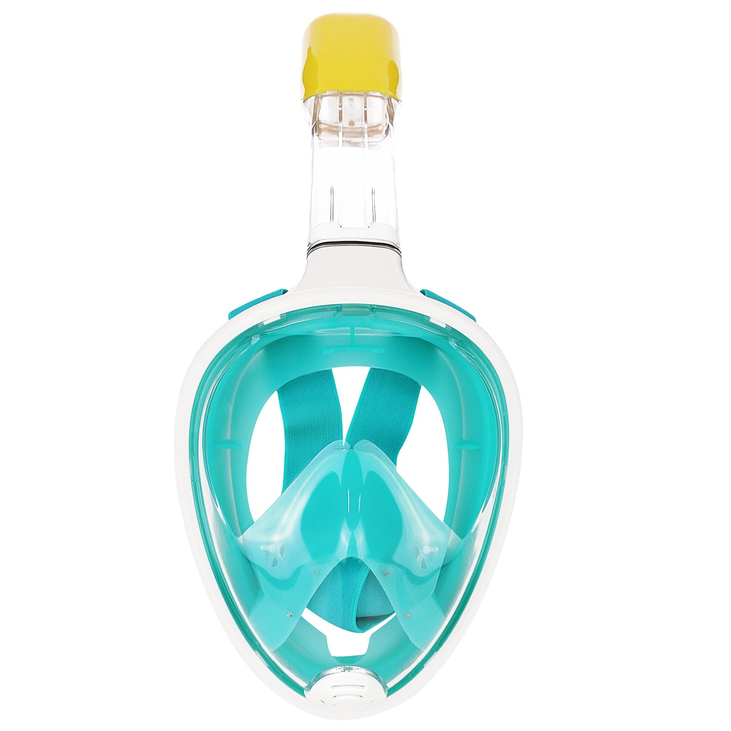 Heart Horse Snorkeling mask Seaview 180°GoPro Compatible Snorkel Mask- Panoramic Full Face Breathing Design with Anti-fog and Anti-leak Technology, See More With Larger Viewing Area Than Traditional Masks(Green, L/XL)