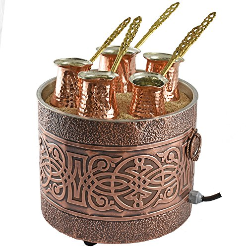 Turkish Sand Coffee 9.85 inches, Copper Sand Brewer Party, Turkish Coffee Machine, Coffee on Sand, Copper Pot, Turkish Coffee Pot, Restaurant Hotel Coffee Shops, Third Wave Coffee