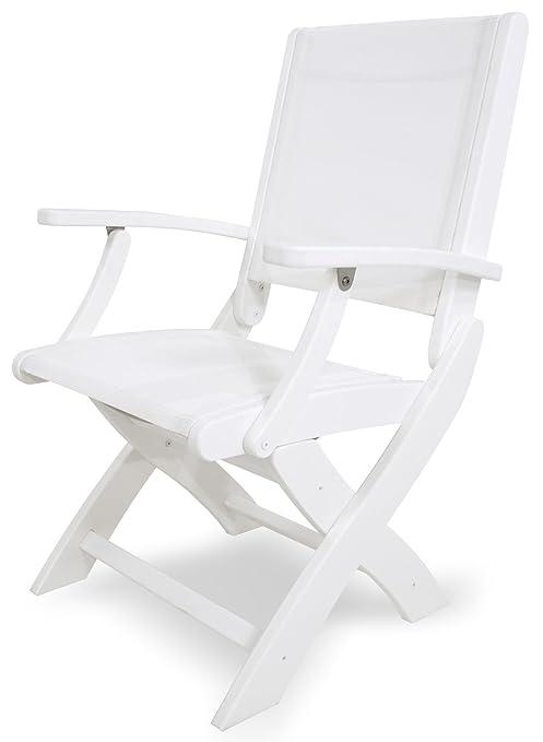 Polywood 9000-wh901 costeras - Silla plegable, blanco/blanco ...
