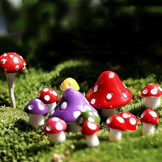 Huhuswwbin Miniatura Seta Micro Paisaje Bonsai Suculento Plantas Mini Jardín DIY Decoración – Color mixto S – Las mejores decoraciones para interiores y exteriores, Resina, Mixed Color, M: Amazon.es: Jardín