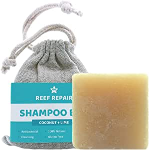Reef Safe Shampoo Bar, Coconut & Lime Flavor, Natural & Cleansing, Organic, Family Safe, Ocean Friendly Hair & Body Bar from Reef Repair 1.8 oz