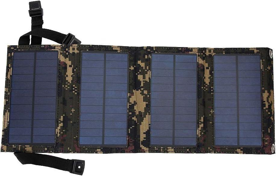 USB Bater/ía port/átil Cargador solar para viajes Actividades al aire libre para acampar 10 W 5 V Cargador de panel solar plegable Cargador solar