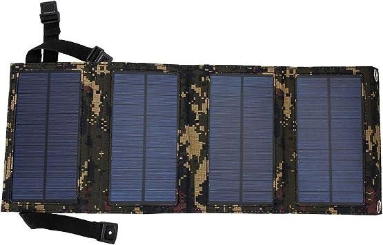 Cargador Solar de 10 W, USB Camuflaje Cargador Plegable de ...