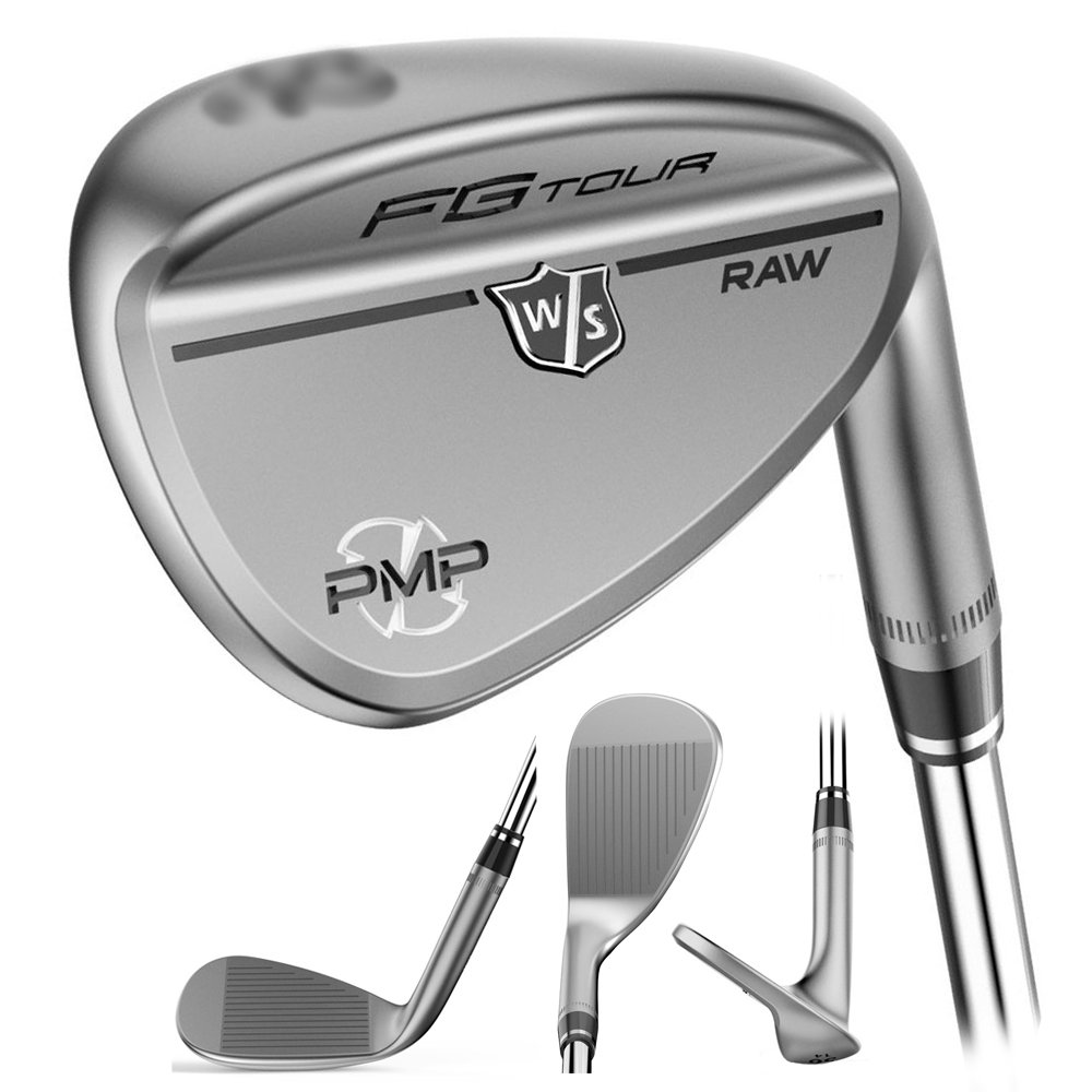 Wilson Staff FG Tour PMP Men's Golf Wedge, Traditional Raw, 52, Right Hand by Wilson