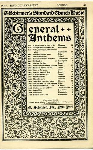 Thy Light Out Send (Send out thy light (SATB Anthem Sheet Music) (G. Schirmer's Standard Church Music, General Anthems, 3421))