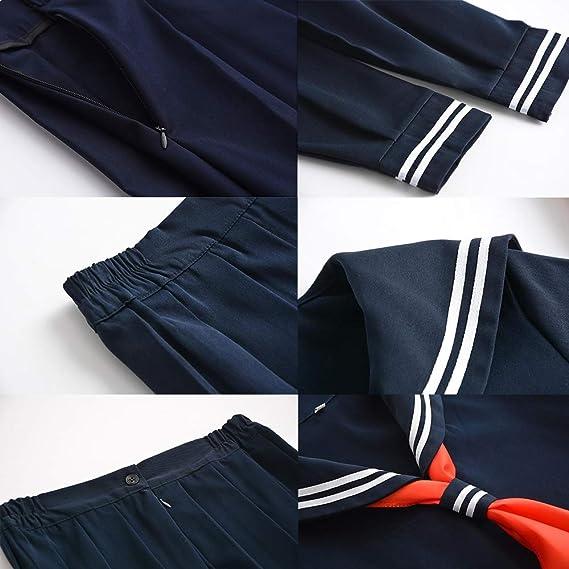 Vokaer Escuela Japonesa Sailor Navy Camisas de Vestir Uniformes ...