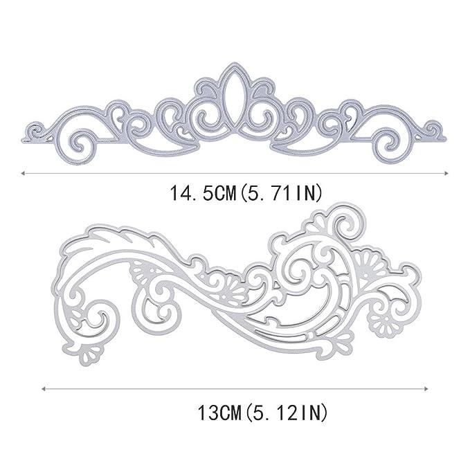 2 PCS Lace Flower Lace Crown DIY Scrapbooking Cutting Dies Metal ...