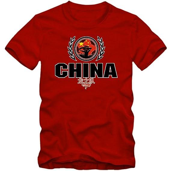Shirt Happenz Fútbol Chino V2 Camiseta | Hombre | Fútbol | Jersey | Equipo Nacional: Amazon.es: Ropa y accesorios