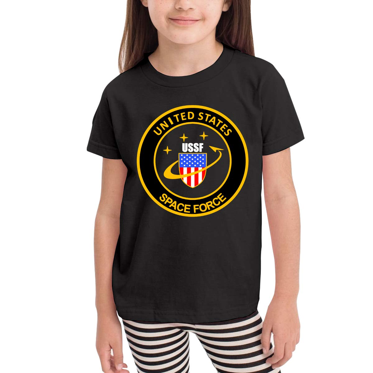 United States Space Force USSF Toddler Boys Girls Short Sleeve T Shirt Kids Summer Top Tee 100/% Cotton Clothes 2-6 T