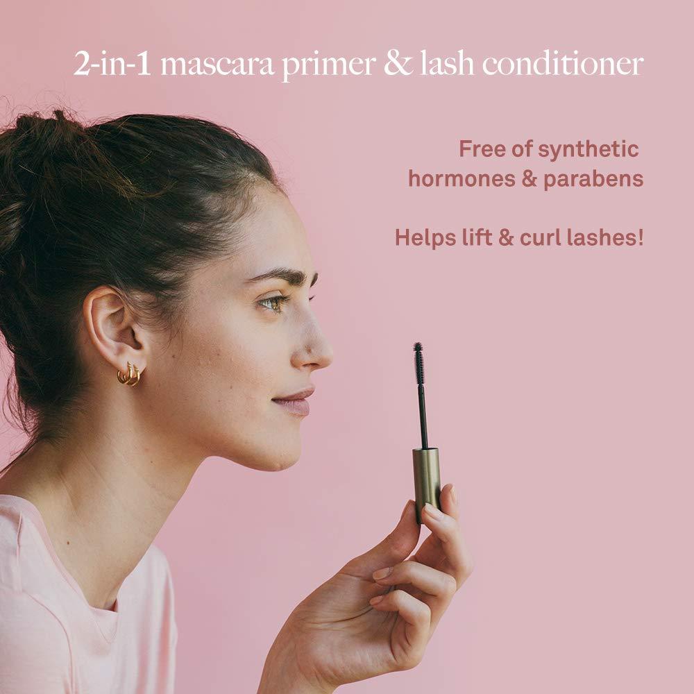 VEGAMOUR vegaLASH Multi-Tasking Lash Primer with Eyelash Enhancement Serum – Natural Vegan Plant Based Hormone Free Formula Conditions and Nourishes Lashes to Promote Healthy Growth, 8ml