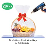 LazyMe Basket Cellophane Shrink Bags, 24x30