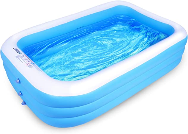 Lunvon Piscina Hinchable Familiar, 305 x 183 x 56 cm Piscina ...