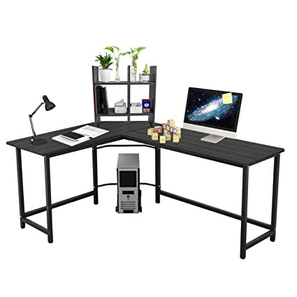 L Shaped Large Computer Desk Table Office Laptop PC Workstation With Free  CUP Stand And