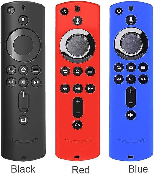 Blue Taglia Libera Cover in Silicone Antiscivolo per Telecomando Fire TV Cube Matedepreso
