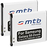 2x Baterías EB-BC115 para Samsung Galaxy K Zoom, Galaxy S5 Zoom (SM-C115)