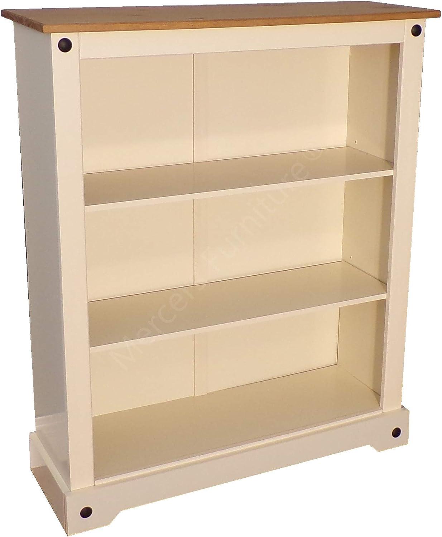 Mercers Furniture Corona-Libreria Piccola Dipinta Color Crema small Avorio