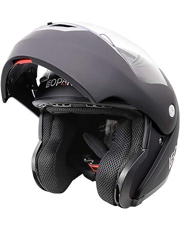 4a5bbb35 Leopard LEO-717 ECE Approved Flip up Motorcycle Motorbike Helmet Matt Black  L (59