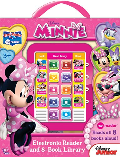 Disney Jr. Minnie Electronic Reader and 8-Book Library: Story Reader Me ReaderTM