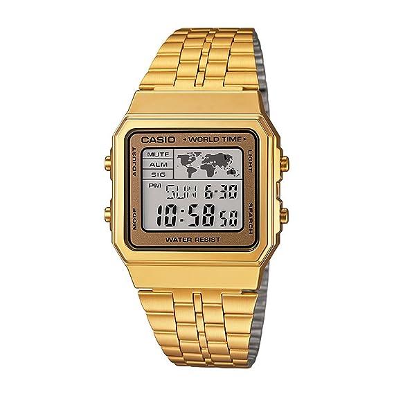 25c6554514a Relógio Masculino Casio Vintage World A500WGA9DF - Dourado  Amazon ...