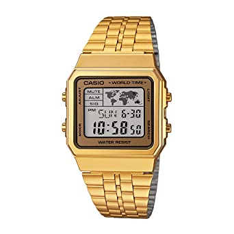 219c97d33 Image Unavailable. Image not available for. Color: CASIO Men's Digital  World TIME A500WGA-9DF Stainless Steel Watch