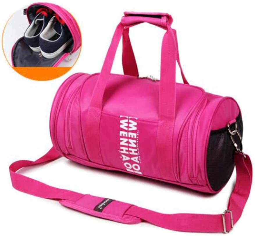 Waterproof Travel Bag Large-Capacity Gym Bag Large Size: 452525cm Safety Carry-on Bag Independent Shoe Position Hongyuantongxun Sports Bag Cylinder Yoga Bag