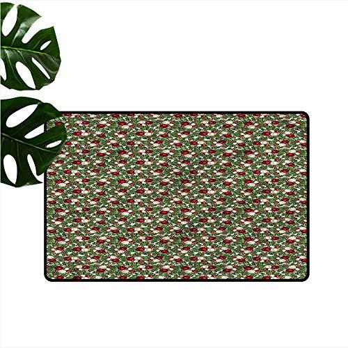 Fashion Door mat Christmas Balls Holly Old All Season General W16 xL24 ()