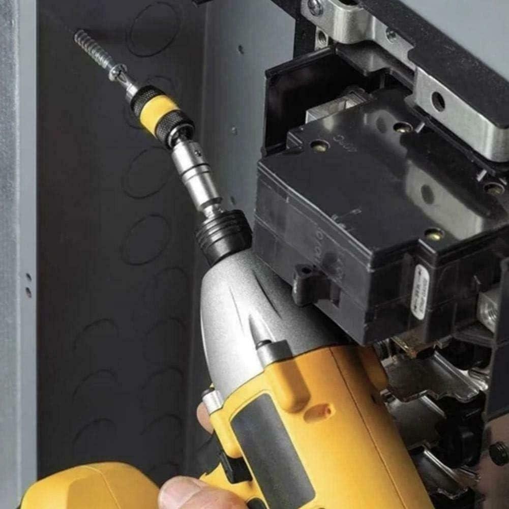 Adjustable in 20 /° Rotation Mode,1//4 Impact Tough Bit Holder LAOLAIXIAN Pivoting Screw Drill,Magnetic Pivot Drill Bit Holder