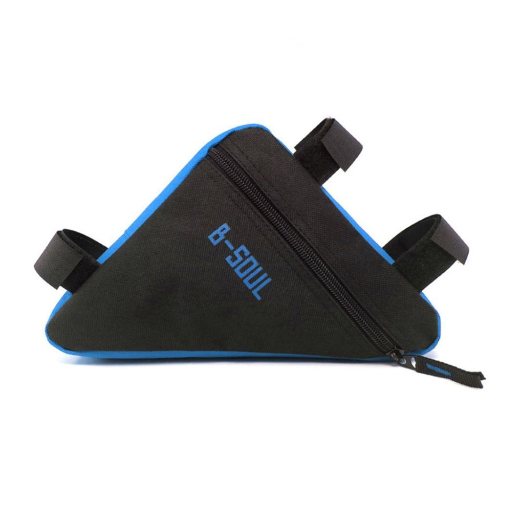 Chartsea B-SOUL Bicycle Front Frame Triangle Bag Cycling Bike Tube Pouch Holder Saddle Panniers (Blue)